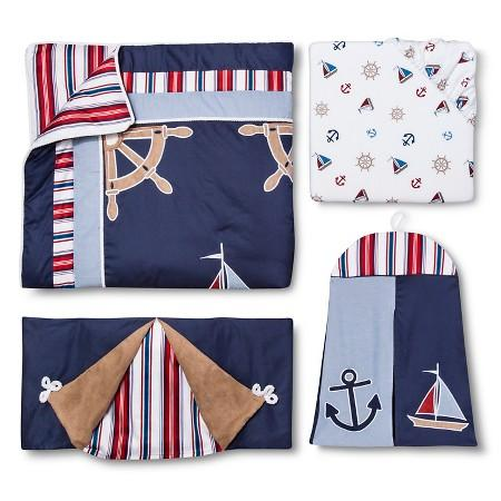 Sweet Jojo Designs 11pc Nautical Nights Crib Set