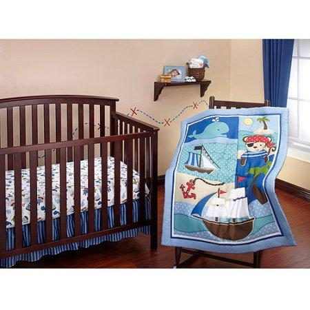 Little Bedding by NoJo Baby Buccaneer 3-Piece Crib Bedding Set