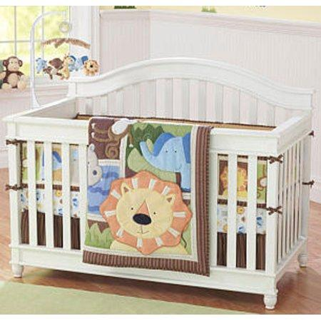 Jungle Buddies 4 Piece Baby Crib Bedding Set