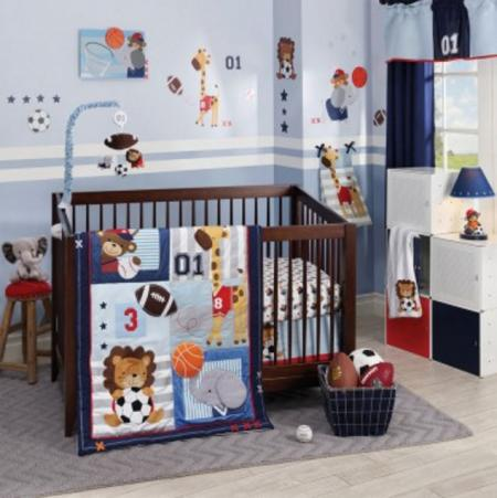 Lambs and Ivy Future All-Star 4 Piece Bedding Set