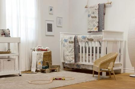 Lolli Living Aeroplanes 4-Piece Crib Bedding Set