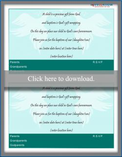 Baptism invitation wording lovetoknow dove invitation stopboris Image collections