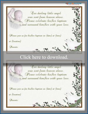 Baptism Invitation Wording LoveToKnow