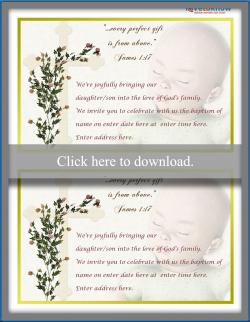Baptism invitation wording lovetoknow cross and baby invitation stopboris Image collections
