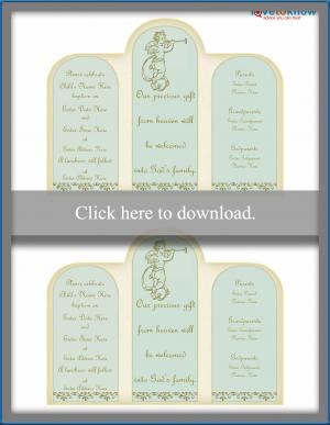 Trumpeting Angel Invitation