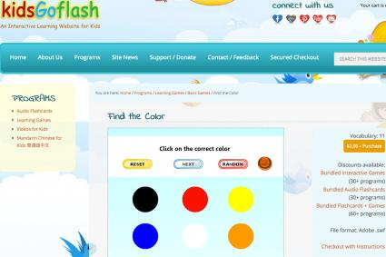 Screenshot of find the color game