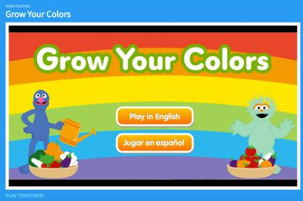 Screenshot of Grow Your Colors game