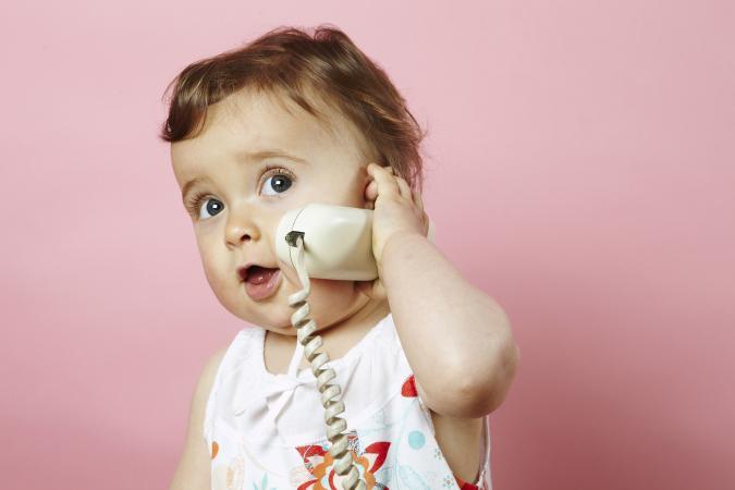 Baby calling on phone