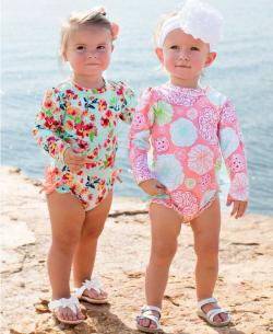 Tropical Garden One Piece Rash Guard
