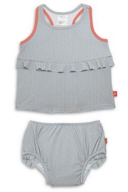 Lassig™ 2-Piece Polka Dot Tankini Set in Grey
