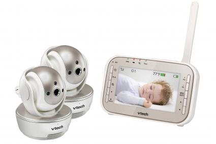 VTech® Digital Video Baby Monitor with Night Vision and Two Pan and Tilt Cameras - VM343-2