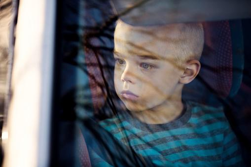 Boy in the car