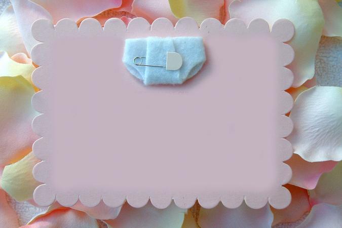 Template for Diaper Invitation