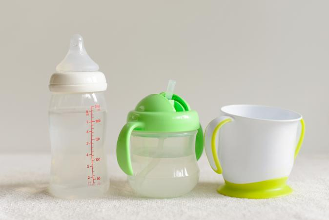baby bottle sippy and cup