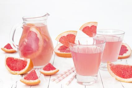 Refreshing pink grapefruit cocktail