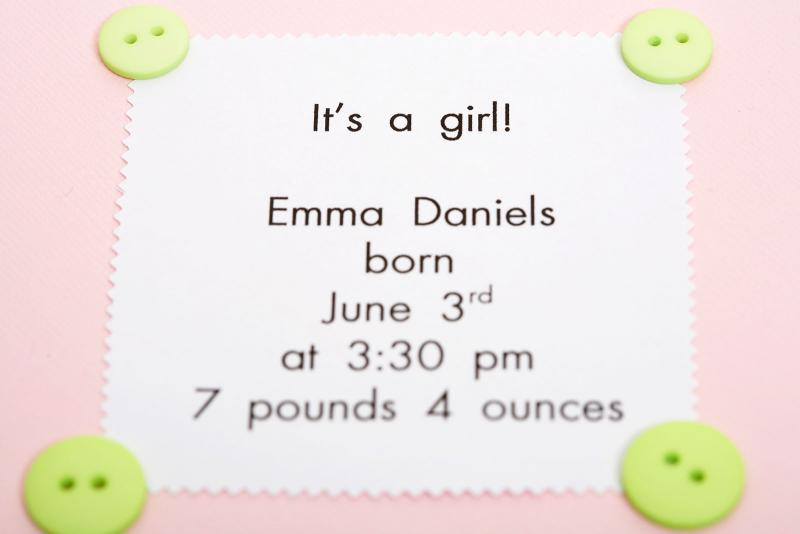 Baby Announcement Mom and Dad Birth announcement Card Newborn Announcement New Baby Photo Card Newborn Photo Card Baby Girl Baby Boy