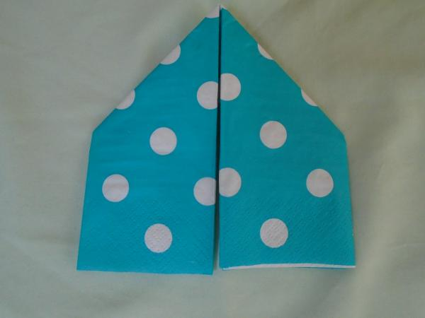 Bootie Napkin Fold Steps 7 and 8