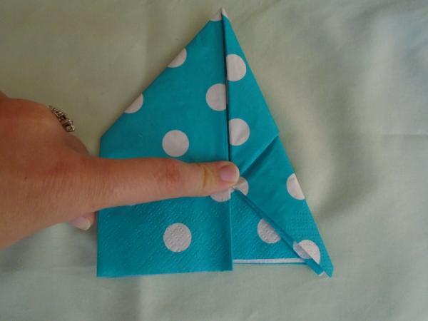 Bootie Napkin Fold Step 9