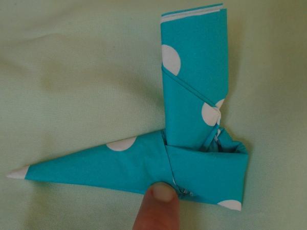 Bootie Napkin Fold Step 16