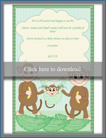 Family baby shower invitation