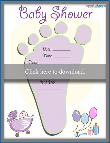 baby footprint invitation clip art