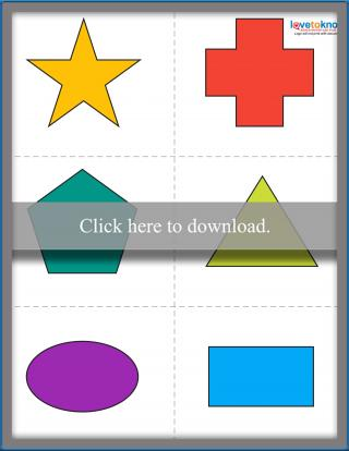 picture about Printable Shapes titled No cost Printable Styles for Babies LoveToKnow