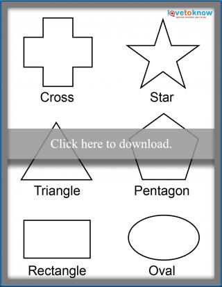 Free Shapes For Toddlers Labeled