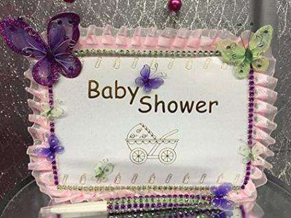 Baby Shower Butterfly Guest Book