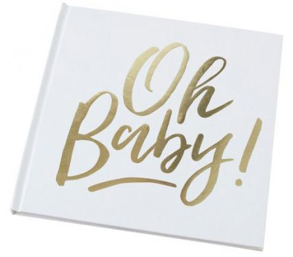 Gold Foiled Oh Baby! Guest Book