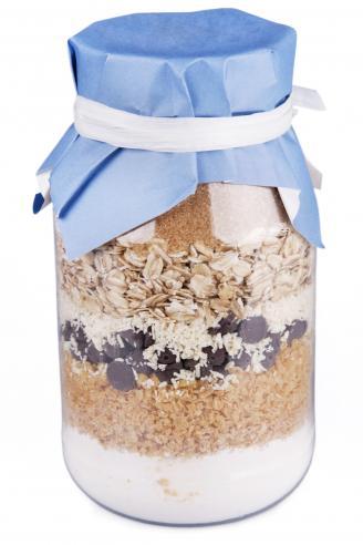 Jar of dry cookie mix