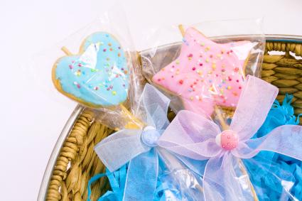 Baby Shower Cookies in a Basket