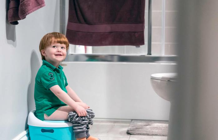 Happy Little Boy Potty Training