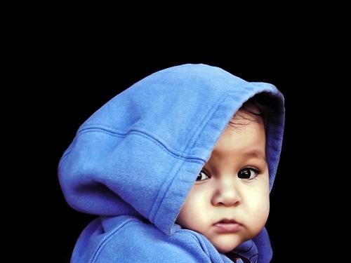 Hawaiian baby boy in hoodie
