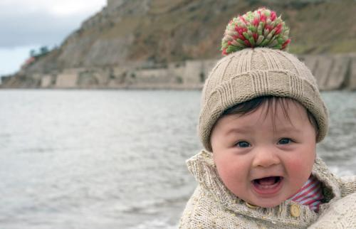 Baby at the seaside