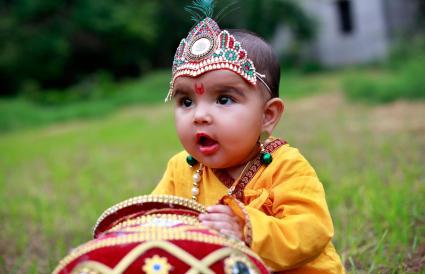 Innocent baby Krishna