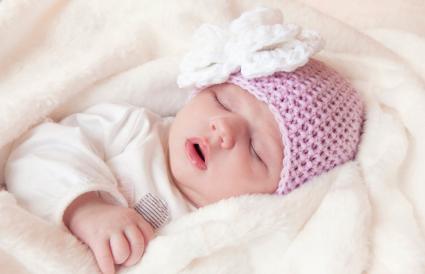 Baby girl deep asleep