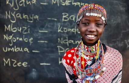 girl during Swahili language class
