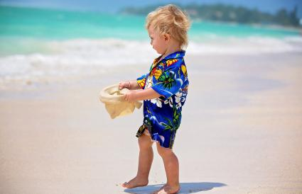 toddler boy in summer holiday