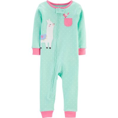 Llama Snug Fit Cotton Footless PJs