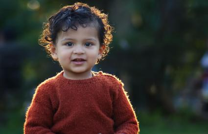 Portrait of an Indian toddler