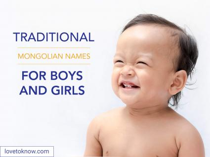 Mongolian names for boys and girls