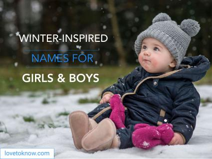 Winter inspired names for girls and boys