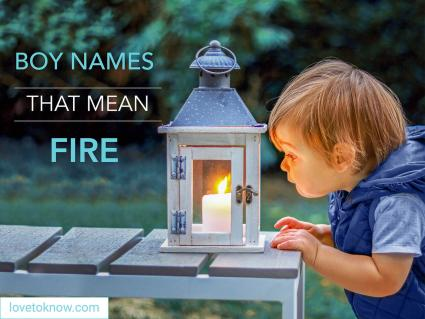 Baby boys names that means fire