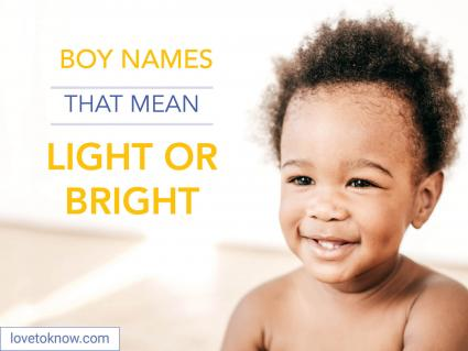 Boy names that mean light or bright
