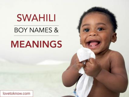 Swahili boy names and meanings