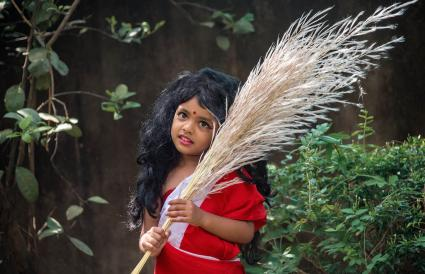 Little girl as god devi
