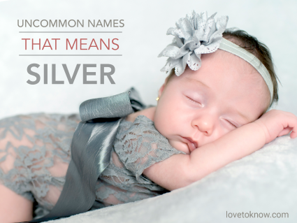 Baby Girl Dressed in Silver