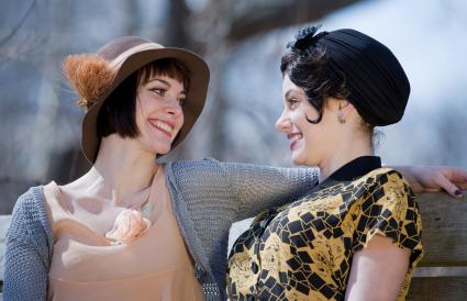 Close 1920s style girl friends