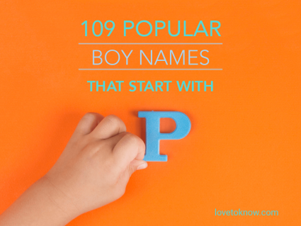 Popular boy names that start with P