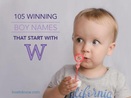 Winning Boy Names That Start With W